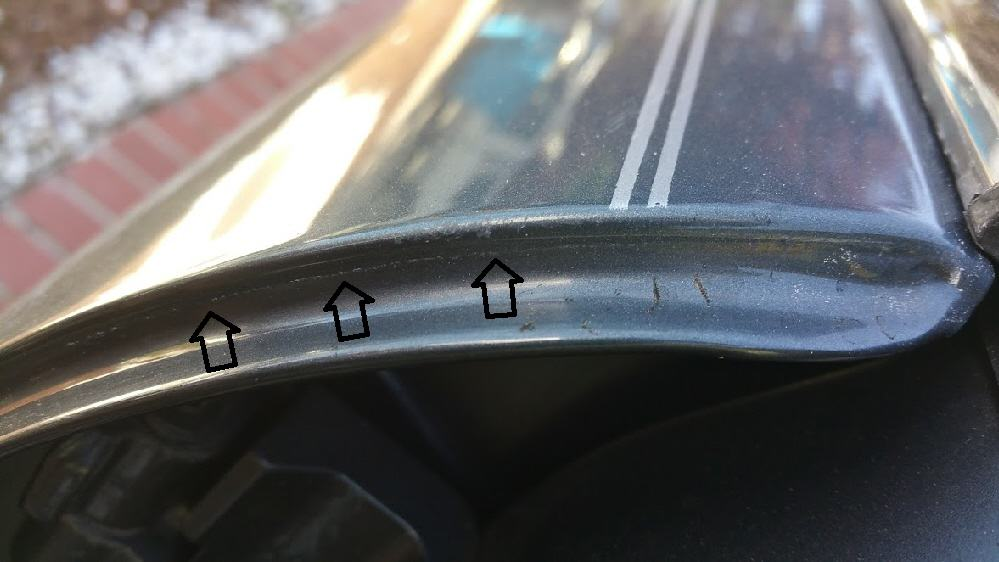 spotting paintwork tape lines