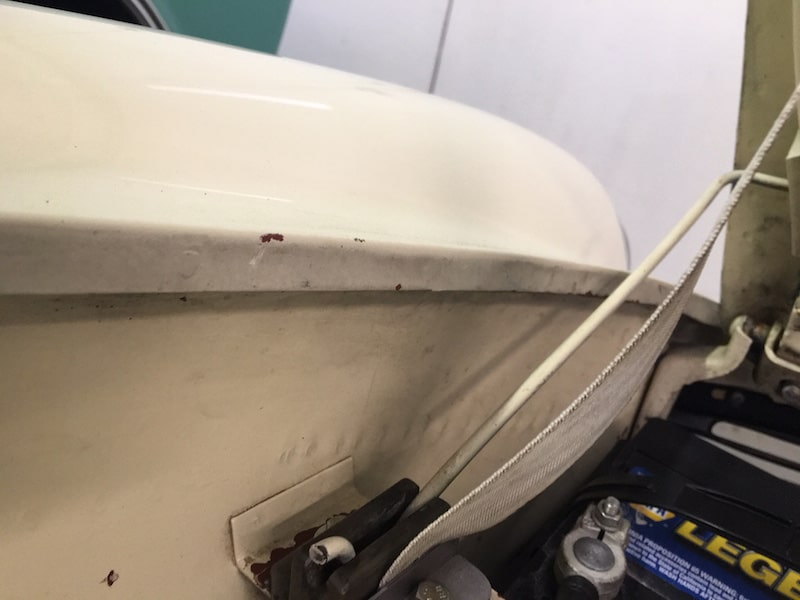 spot welds paintwork panel replaced respray paint