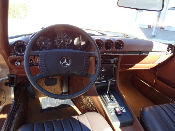 1977 mercedes benz 450sl for sale interior