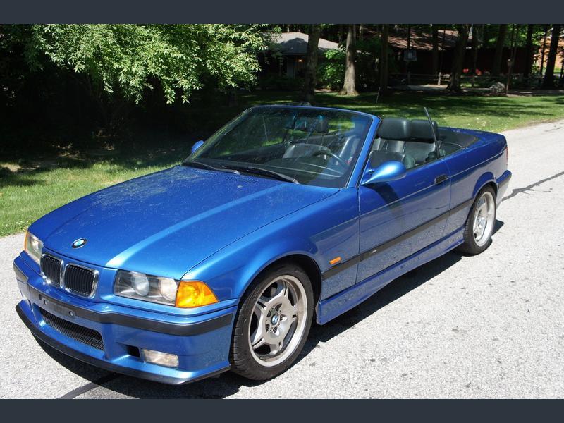 1996 bmw m3 convertible estoril blue for sale