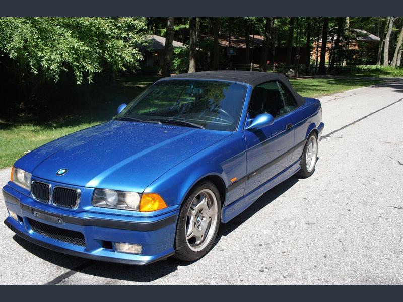 1996 bmw m3 convertible estoril blue for sale 1