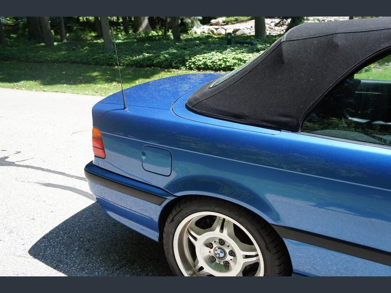1996 bmw m3 convertible estoril blue for sale 4