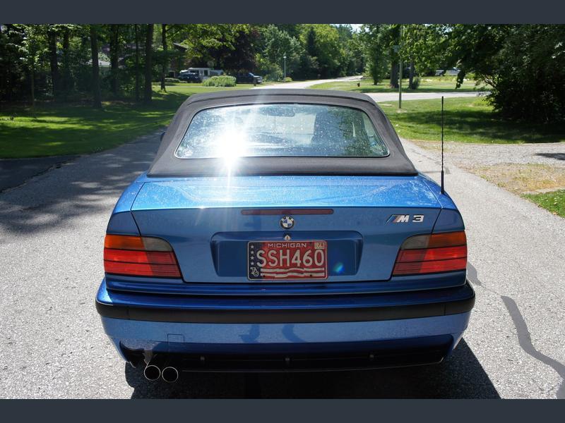 1996 bmw m3 convertible estoril blue for sale 3