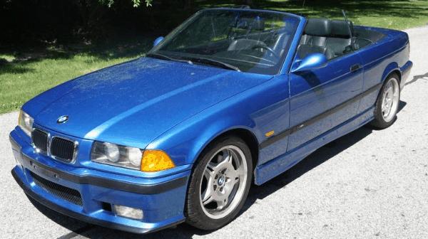 1996 bmw m3 convertible estoril blue for sale featured